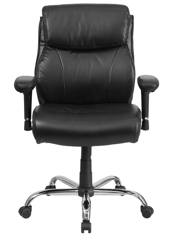*New* BTOD Leather Big And Tall Office Chair Rated for 400 lbs - 22