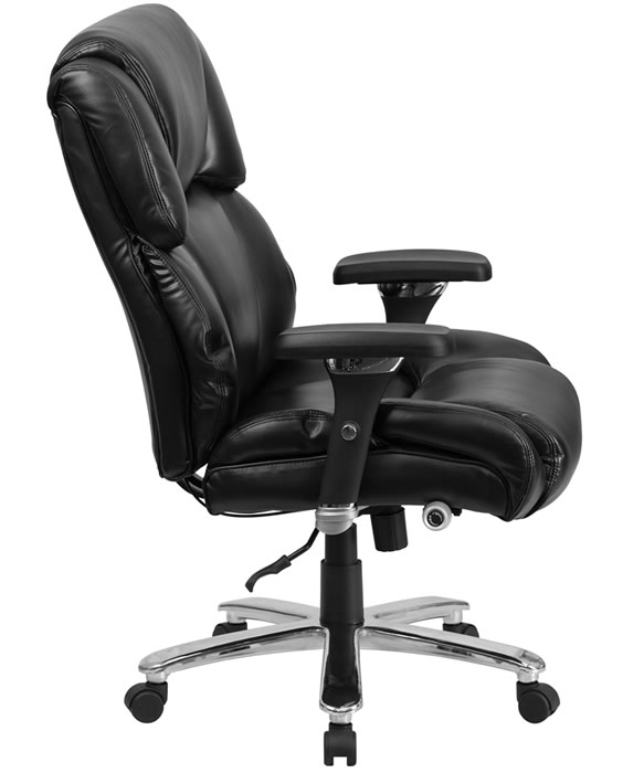 *New* BTOD Heavy Duty 24 Hour Leather Office Chair 400 lb. Rating 24