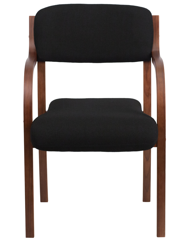 *New* BTOD Black Fabric Wood Guest Chair - 2 Wood Colors