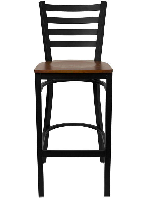*New* BTOD Ladder Back Breakroom Stool - Cherry or Natural Wood Seat