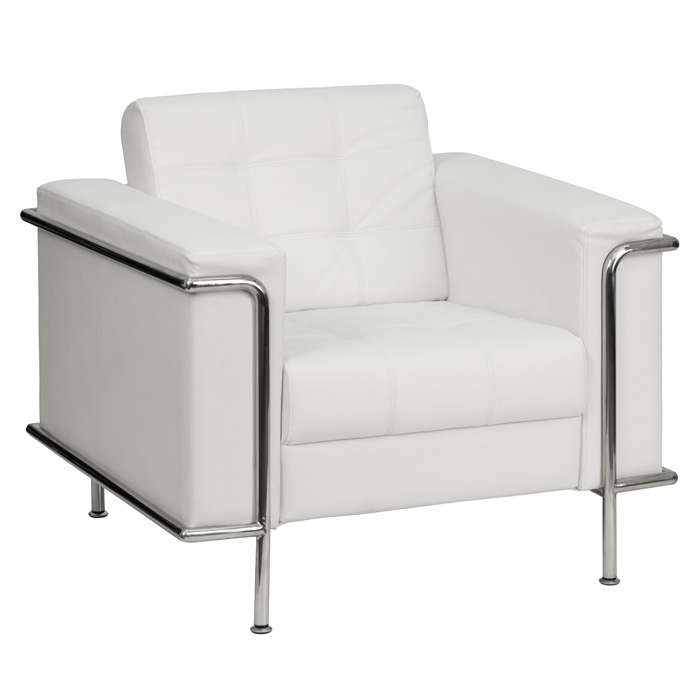 BTOD Lesley Series Contemporary Leather Lounge Chair Black Or White