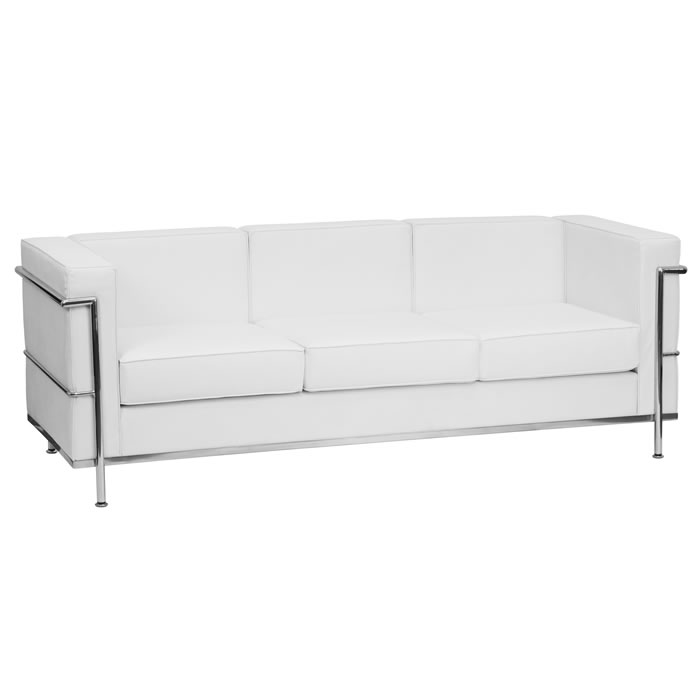 *New* BTOD Regal Series Contemporary Leather Sofa Available In Black or White