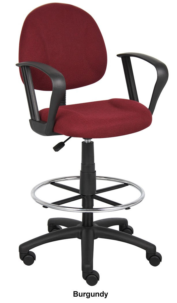*New* Boss Adjustable Drafting Stool with Footring Seat Height Adjustment 26.5-31.5