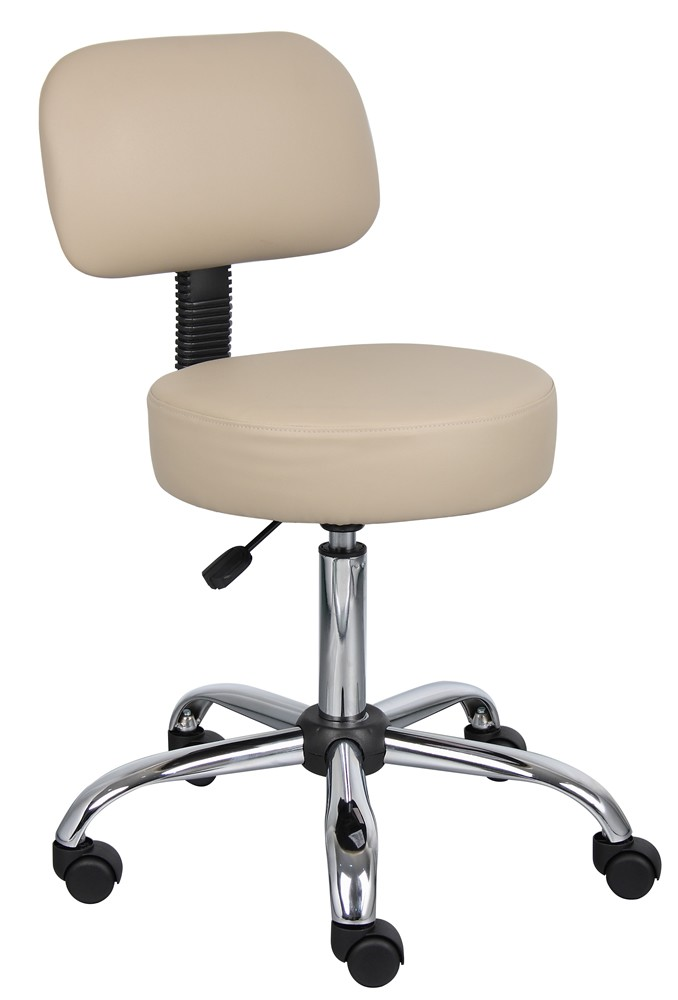 Boss B240 Vinyl Lab Stool With Backrest On Sale