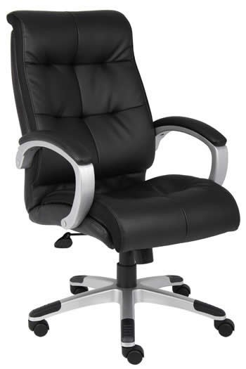 *New* Boss LeatherPlus Conference Chair Padded Arm Rests