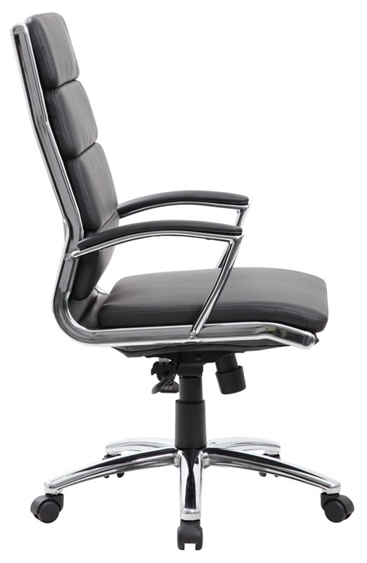 *New* Boss Modern Faux Leather Office Chair Chrome Accents