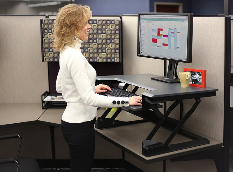 *New* Ergotron WorkFit-T Sit Stand Desk Converter