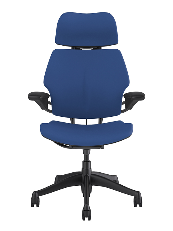 *New* Custom Humanscale Freedom Chair with Headrest in Fabric or Vinyl - 74 Color Options