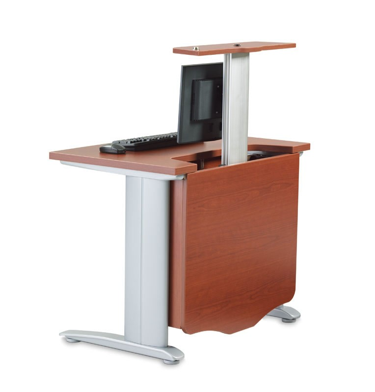 R Style Hv Series Computer Table With Pop Up Monitor Arm