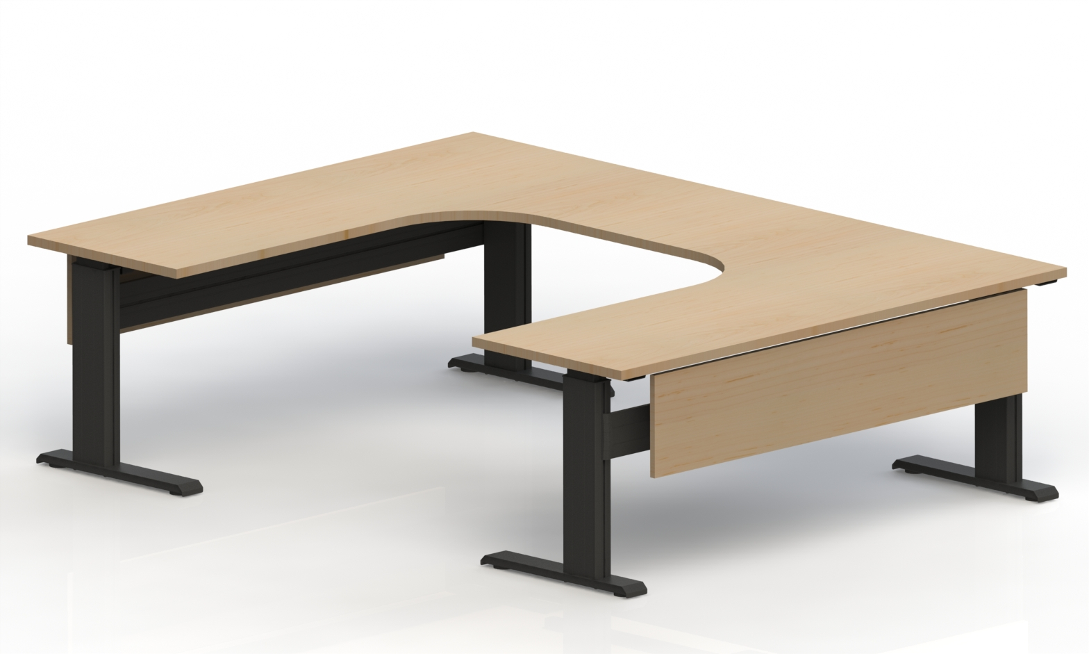 Newheights U Shaped Lt Electric Standing Desk