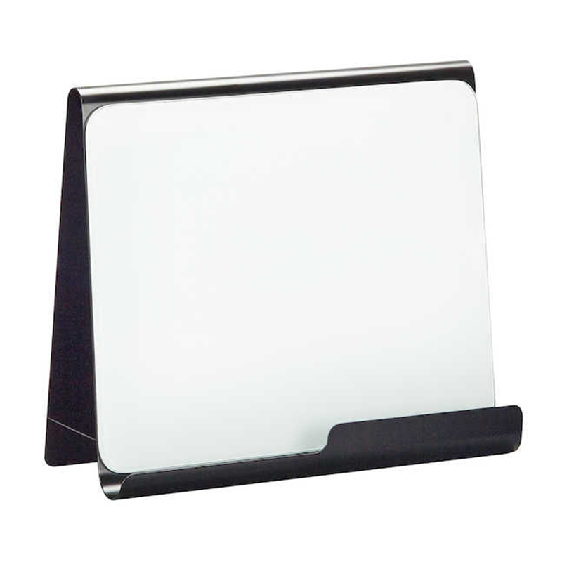 Safco Wave Black Finish Desk Accessory Metal Frame