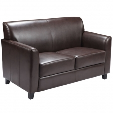 *New* BTOD Diplomat Series Leather Loveseat Two Color Options