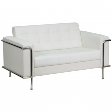 *New* BTOD Lesley Series Contemporary Leather Love Seat Black or White