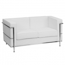 *New* BTOD Regal Series Contemporary Leather Love Seat Available In Black or White