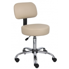 *New* Boss Doctor's Stool with Backrest and Pneumatic Height Adjustment From 21-27