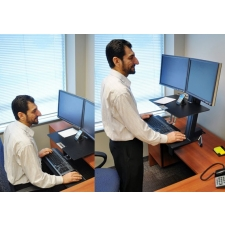 *New* Ergotron WorkFit-S Adjustable Height Desktop Workstation Dual Monitor w/ Worksurface