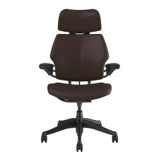 *New* Custom Humanscale Freedom Chair with Headrest in Leather - 10 Color Options