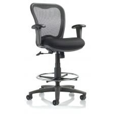 *New* Black Mesh Drafting Chair Nightingale LXO Mid Back Drafting Seat Adjustment 24-34