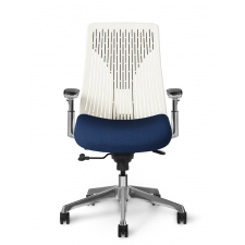 OM Truly. Poly Back Ergonomic Chair Management Synchro