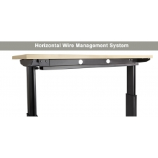 NewHeights Elegante XT Corner Height Adjustable Desk - Wire Management