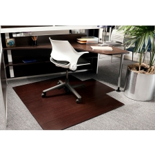 Anji Mountain Bamboo Roll-Up 8mm Chairmat Available in Dark Cherry And Natural