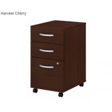 Studio C Storm Grey Laminate Finish 3 Drawer Mobile File Cabinet