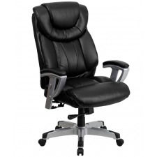"BTOD Big And Tall Leather Office Chair 22.75"" Wide Seat Rated For 400 lbs."