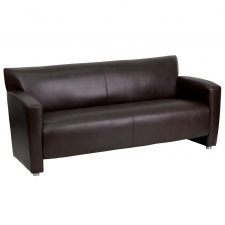 Black Leather Sofa For Lobby Area