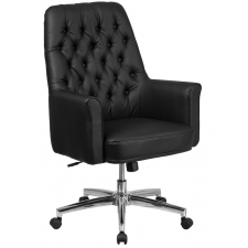 BTOD Best White Tufted Leather Office Chair