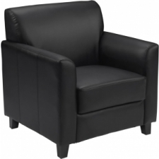 BTOD Diplomat Series Leather Lounge Chair Available In Black Or Brown