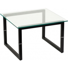 BTOD Glass Top Reception End Table
