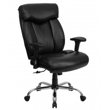 "*New* BTOD Big And Tall Leather Office Chair 22"" Wide Seat Rated For 350 lbs."