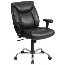 "BTOD Leather Big and Tall Office Chair Rated for 400 lbs. 22.5"" Wide Seat"