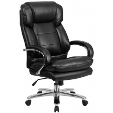 "BTOD Leather Big And Tall 24/7 Office Chair Rated For 500 lbs. 22"" Wide Seat"