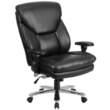 Heavy Duty Leather Office Chair Chrome
