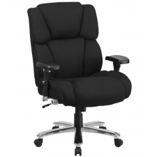 Big And Tall Dispatch Chair Black Fabric