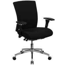 BTOD Intensive Use Mid Back Fabric Office Chair Rated For 300 lbs.