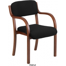 BTOD Black Fabric Wood Guest Chair - 3 Wood Colors