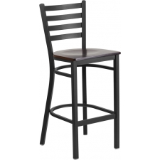 BTOD Ladder Back Breakroom Stool - Cherry or Natural Wood Seat