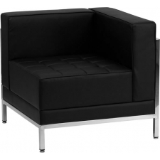 *New* BTOD Imagination Series Right Corner Section Black Leather Lounge Chair