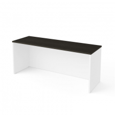 Bestar Pro Concept Plus Deep Grey & White Melamine Finish Narrow Desk Shell