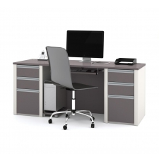 Bestar Connexion Modern Office Desk (2) Box/Box/Files and Keyboard Shelf