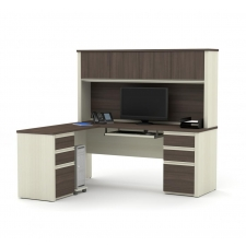 *New* Bestar Prestige+ L Shaped Desk with Hutch 3 Color Options