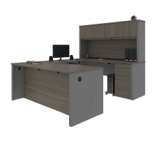 Bestar Prestige+ U Shaped Desk with Hutch