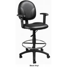 "*New* Boss Multi Function Drafting Stool with Footring - Seat Height 26.5"" - 31.5"""