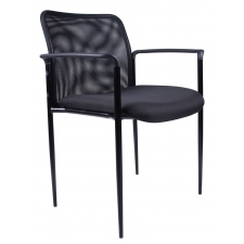 Boss Stackable Guest Chair w/ Steel Frame
