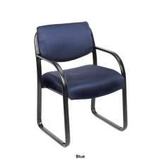 Boss Tubular Steel Frame Guest Chair w/ Built In Lumbar Support