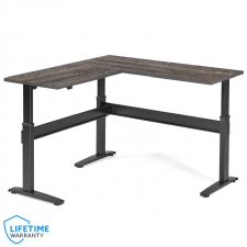 VertDesk v3 L Shape Electric Sit Stand Desk - Wood Essence Laminate