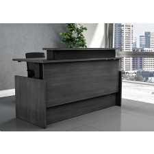 VertDesk Executive Series Sit to Stand Reception Desk w/ Voice Control