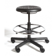 *New* Cramer Rhino Hand Activated Height Adjustable Round Stool Urethane Seat - Seat Adjustment Options Up to 32""